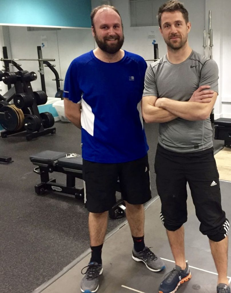 Paul Stimpson with Personal Trainer Joe Edmonds