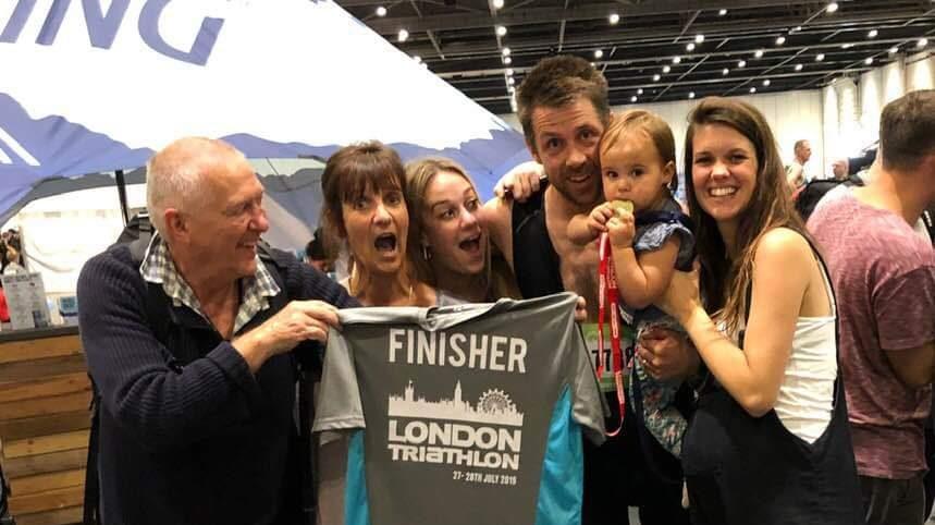 Edmonds familys at 2019 London Triathalon
