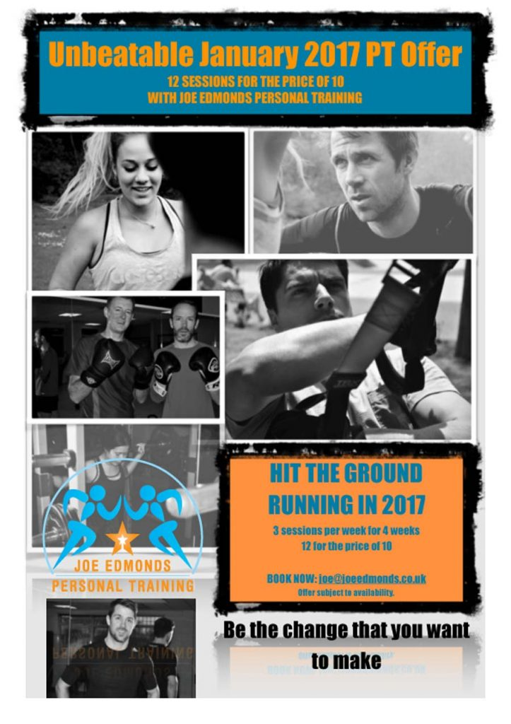 2017 Personal Training offer - 12 sessions for the price of 10